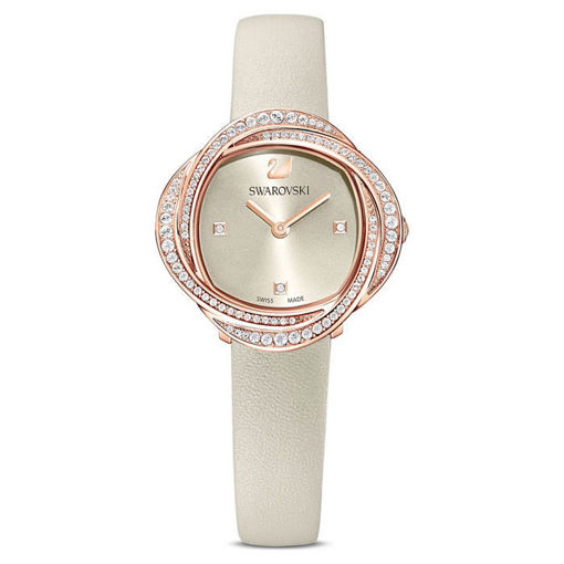 Swarovski klokke Crystal Flower, grå - 5552424