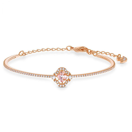 Swarovski armband Sparkling Dance Clover, rose - 5516476