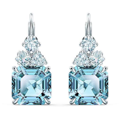 Swarovski øredobber Swarovski øredobber Sparkling, med blå krystaller - 5524139
