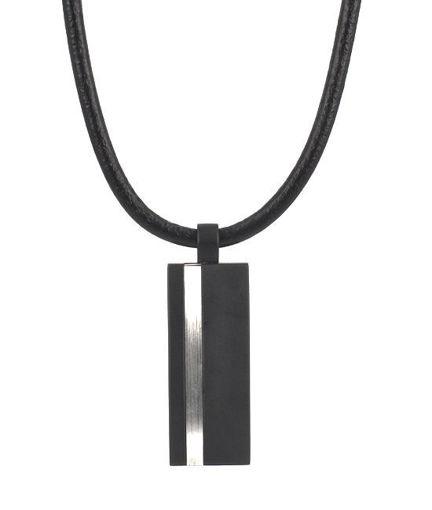 Herrekjede MOLTAS i svart/stål, 50cm/6cm - 361856