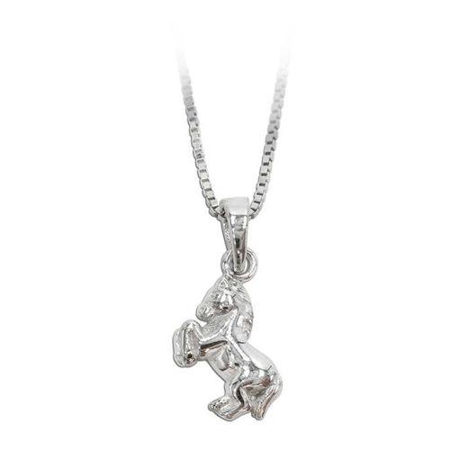Sølvmykke med hest - 349002