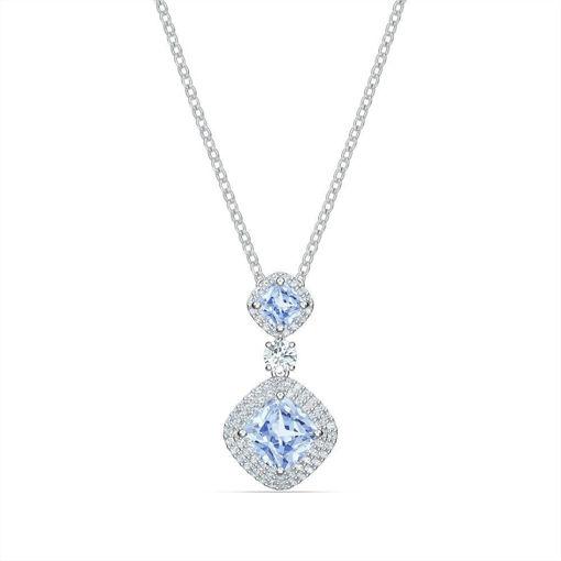 Swarovski smykke Angelic Necklace, Blue, Rhodium plated - 5559381