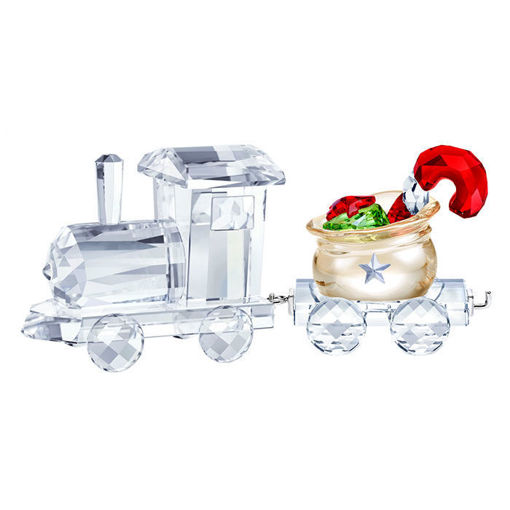 Swarovski figurer Locomotive with Santa's Gift Bag Wagon- 5464864-5364562