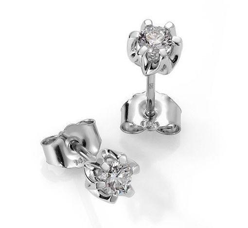 Sitara diamant øredobber med 2/0,24 ct W-Si-422124