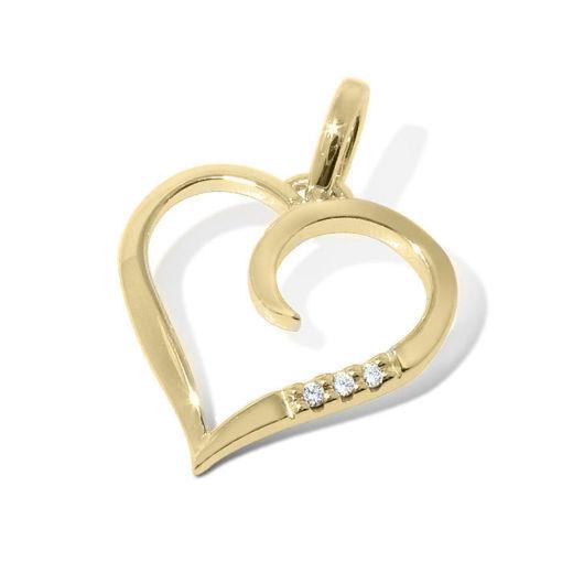 Diamantsmykke i gull 14 kt med 0,015 ct W-Si -BUR233274