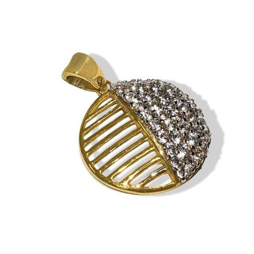 Smykke i gult gull med zirkonia - 26729
