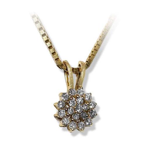 Diamantsmykke i gult gull med 0,51 ct TW-P -SP4277