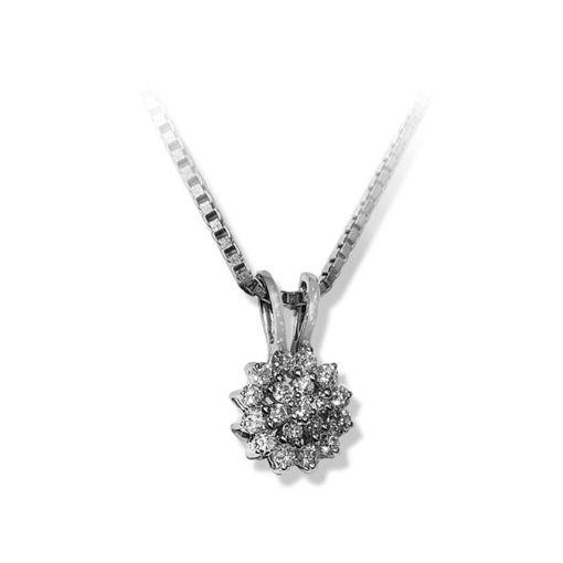 Diamantsmykke i hvitt gull med 0,24 ct TW-P -SP427700