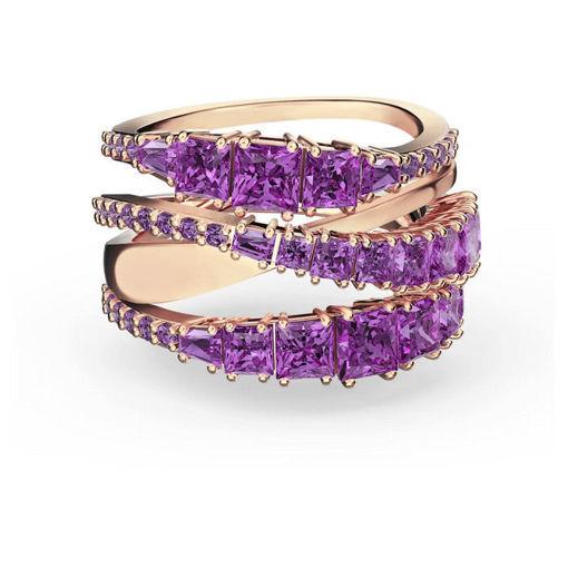 Swarovski ring Twist Wrap, lilla - 5572720