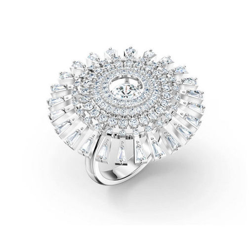 Swarovski ring  Sparkling Dance Dial Up, hvitt - 5564427