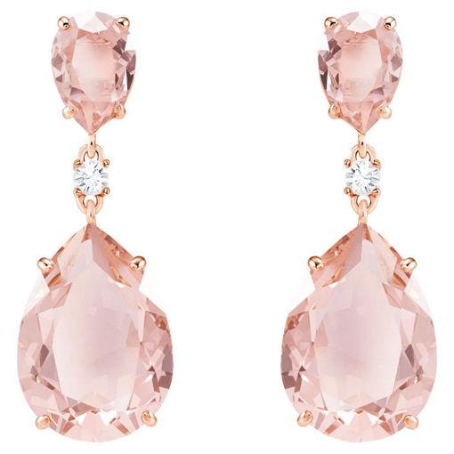 Swarovski øredobber Vintage Drop, rosa - 5424361