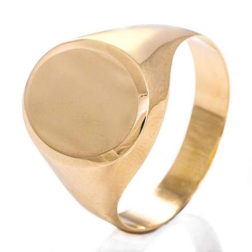 Signetring til herre i gult gull 3,4 mm - 57556