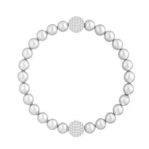 Swarovski armbånd Remix Collection Light Gray Pearl - 5364103