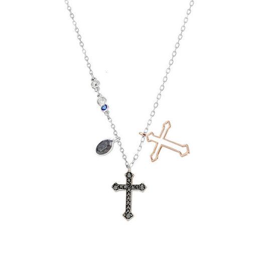 Swarovski smykke Duo Mini Cross, flerfarget - 5396881