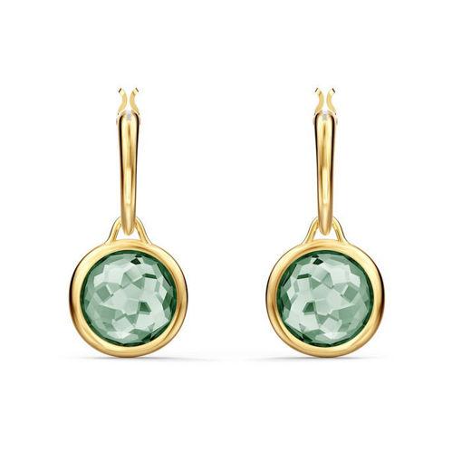 Swarovski øredobber Tahlia Mini Hoop, grønn - 5572587