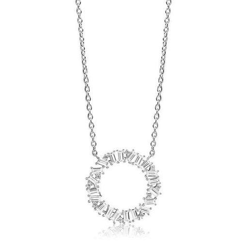 Smykke Antella Circolo Grande sølv, 42 cm - SJC0163CZ