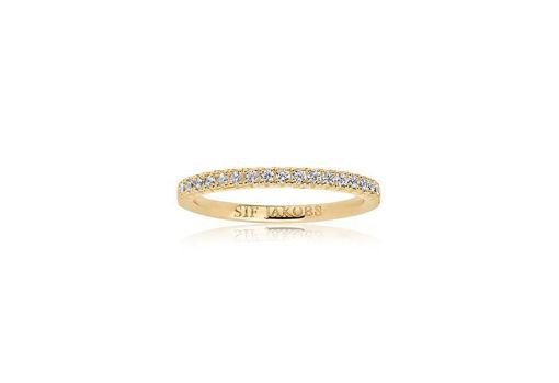 Ring Ellera i forgylt sølv med zirkonia - SJR2869CZ(YG)
