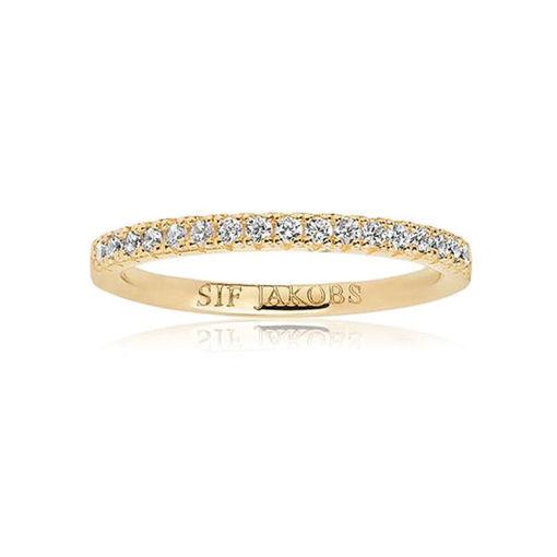 Ring Ellera i forgylt sølv med zirkonia - SJR2869CZYG