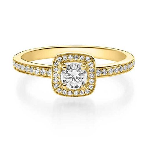 Diamantring med 0.42 ct, gult gull 18 kt - 15920gg