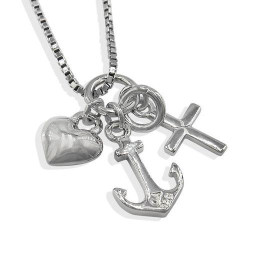 Sølvsmykke tro, håp og kjærlighet, til barn - 9093