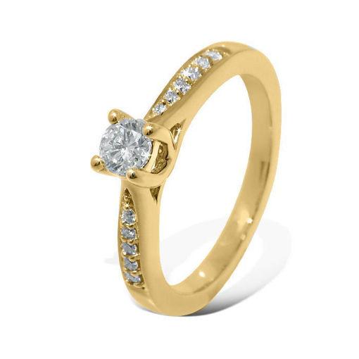 Diamantring forlovelsesring Azur 0,36 ct W-Si,GIA - ABR008740-4