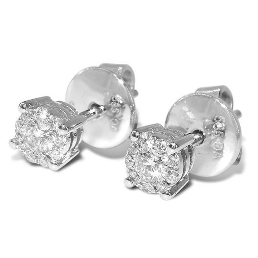 Diamant øredobber hvitt gull med 0,16ct W-Si -165549