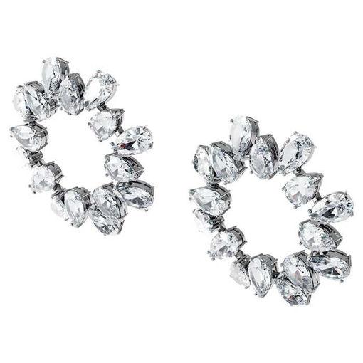 Swarovski øredobber Millenia earrings Circle, white - 5601509