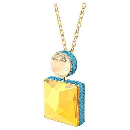 Swarovski smykke Orbita necklace Square cut crystal- 5600513
