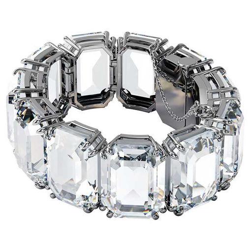 Swarovski armbånd Millenia bracelet Octagon cut crystals, white, rhodium plated - 5599192