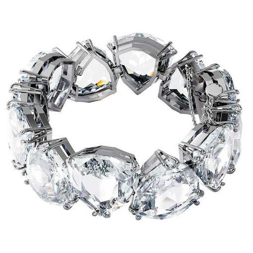 Swarovski armbånd Millenia bracelet Triangle cut crystals, white, rhodium plated - 5599194