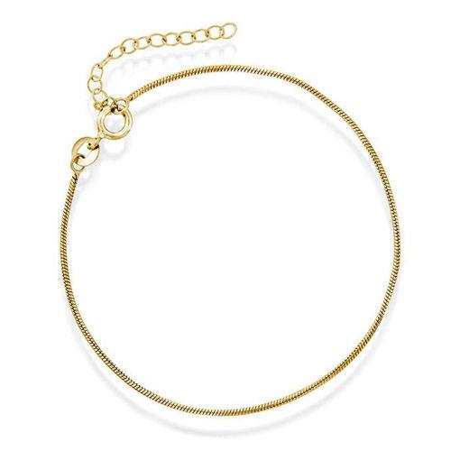 Slange armbånd i forgylt sølv - 44304.19