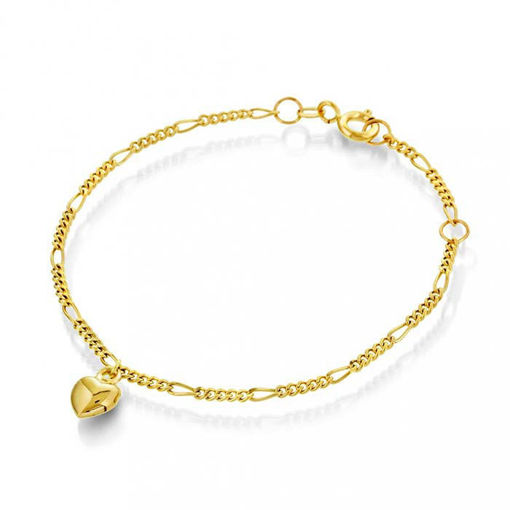 Armbånd i gull med hjerte - 621600