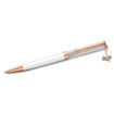 Swarovski Crystalline Celebration 2021 ballpoint pen Bow, White, Rose gold-tone plated - 5553339
